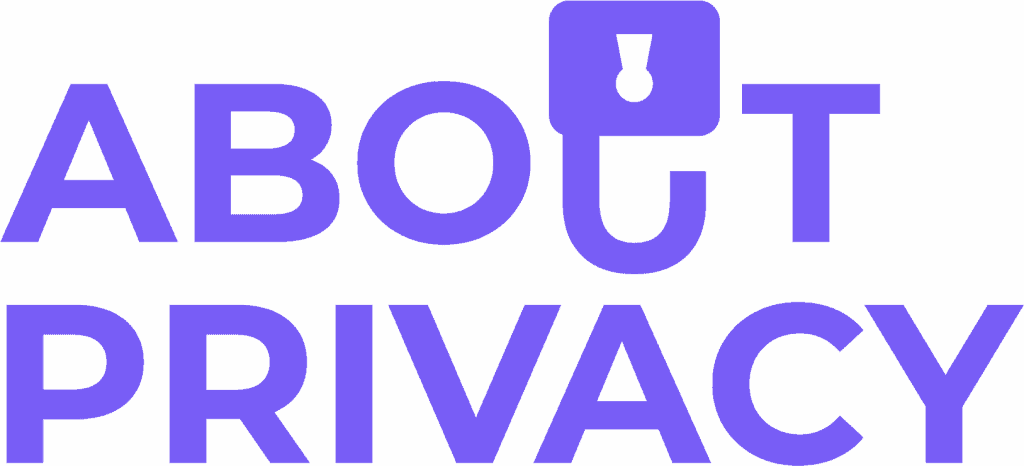 Logo About Privacy Purple