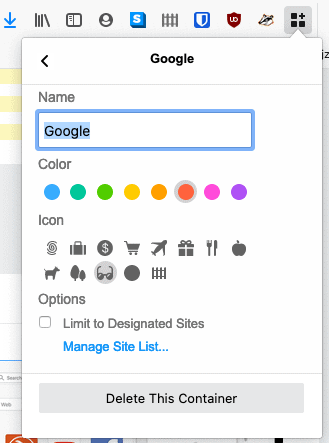 google container maken